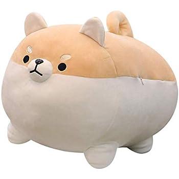 "Auspicious beginning Stuffed Animal Shiba Inu Plush Toy Anime Corgi Kawaii Plush Soft Pillow Doll Dog, Plush Toy Best Gifts for Girl Boy (Brown, 15.7"")"