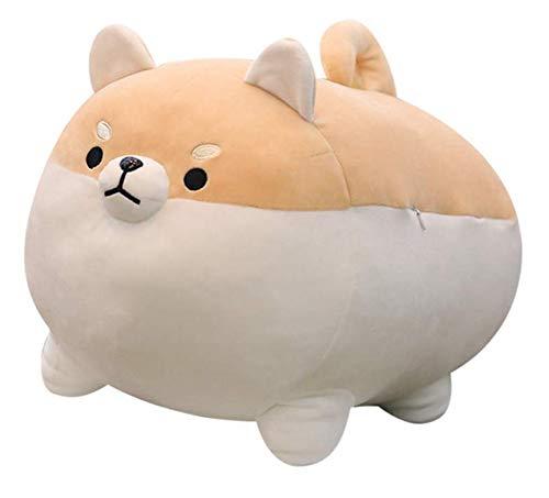 Auspicious beginning Stuffed Animal Shiba Inu Plush Toy Anime Corgi Kawaii Plush Soft Pillow Doll Dog, Plush Toy Best Gifts for Girl Boy (Brown, 15.7