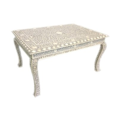 Incredible Amazon Com Bone Inlay Grey Floral Pattern Coffee Table Dailytribune Chair Design For Home Dailytribuneorg