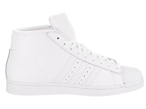 Modello Adidas Mens Pro, Bianco / Viola / Oro Metallizzato, 8,5 M Bianco / Rosso / Nero