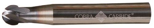 Pack of 1 2 Flute 2 Length 3//16 Cutting Diameter 9//64 Cutting Length Ball Nose End Cobra Carbide 16304 Micro Grain Solid Carbide Hi-Performance Regular Length End Mill AlTiN Coated