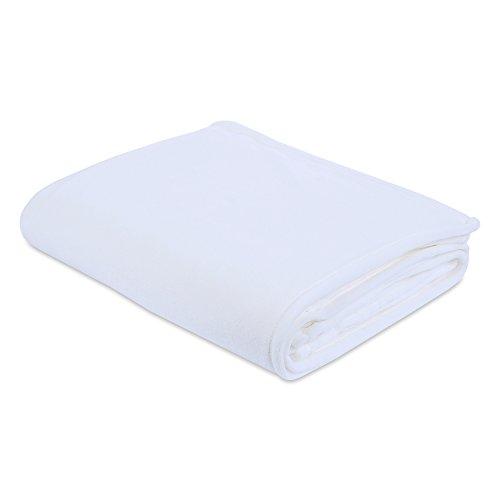 Berkshire Blanket Plush Serasoft Bed Blanket with Polartec Warmth Technology, Full/Queen, White by Berkshire Blanket