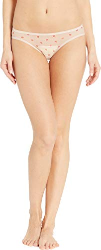 DKNY Intimates Women's Mix Match Mesh Bikini Cameo Lip Print/Cameo X-Large