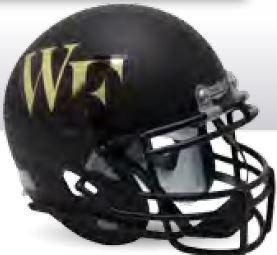 Schutt Wake Forest Demon Deacons Authentic College XP Football Helmet Matte Black - Licensed NCAA Merchandise ()