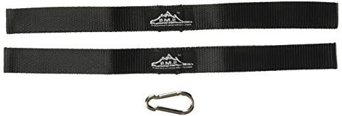 Black Mountain Products BMP Battle Rope Anchor Kit with Nylon Straps & Carabiner Clip