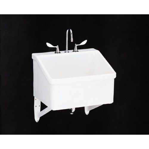 KOHLER K-12794-0 Hollister Utility Sink, White