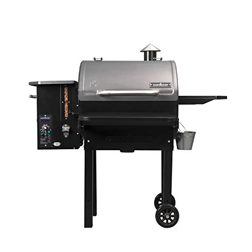 (Camp Chef PG24MZG SmokePro Slide Smoker with Fold Down Front Shelf Wood Pellet Grill, Black )