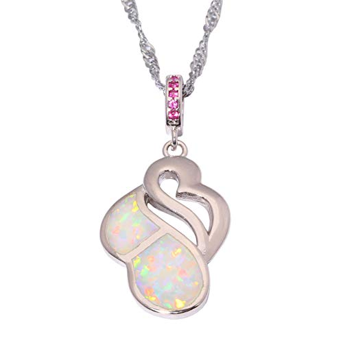 White Fire Opal Kunzite Silver Women Jewelry Gems Pendant With the Chain - White Kunzite Necklace