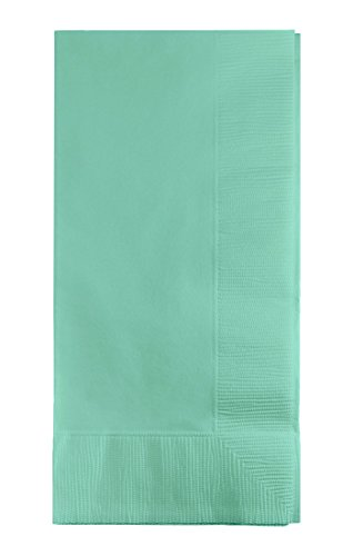 Creative Converting 318899 1/8 Fold Touch Of Color 50 Count Dinner Napkins, Fresh Mint