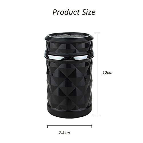 YMXLJJ Diamond Ashtray Portable Fashion Creative Ashtray High Temperature with LED Light Cigarette Smoke Office Home Car Travel Accessories,Black by YMXLJJ (Image #6)