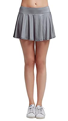 Women's Fitness Pleated Skirts Active Running Tennis Golf Lightweight Skorts With Built-In Shorts