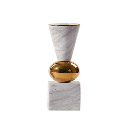 Marble Design Candle Holder - BAIF Decorative Crafts Marble Candle Holder Classical Home Office Furnishings (Size : S)