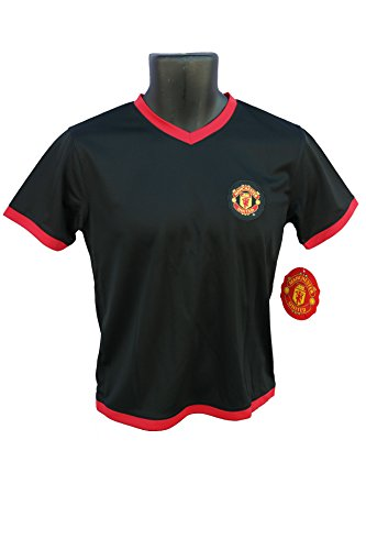 Manchester United FC Soccer Official Youth Soccer Training Performance Poly Jersey Rhinox-J011 Medium (United Training Jacket)