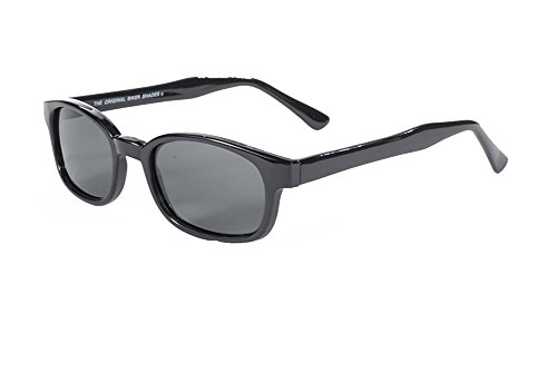 Original Kd's Biker Polarized Lenses Black Frames - Sunglasses Coast Kd's Original Biker Pacific