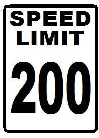 200 mph speed limit novelty sign amazon co uk kitchen home