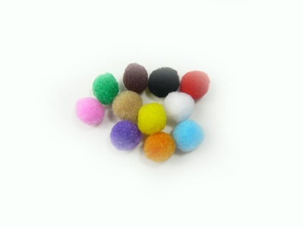 狂った生産的酸化物ボン天?ぼん天◆バラ売り ナイロン凡天 12mm(1個) 黄色