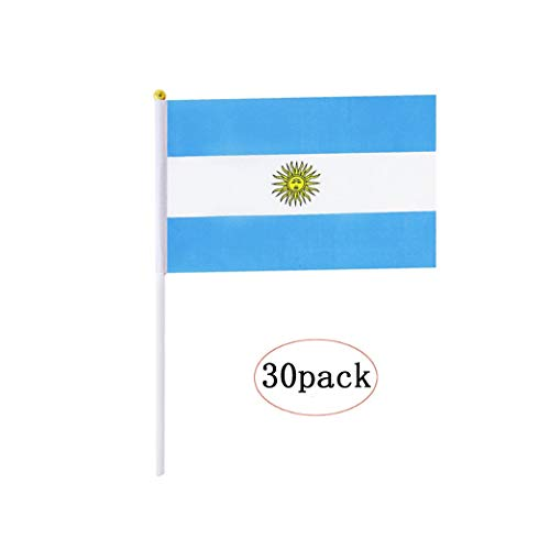 """12-Piece Argentina Argentinian Stick Hand-held Flags Country Banners 5.5x8.3/"""""""