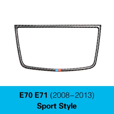 Sport Style Car Styling Stickers for BMW E70 E71 X5 X6 Accessories Carbon Fiber Dashboard Speaker Decorative Panel Decoration  (color Name  Sport Style)