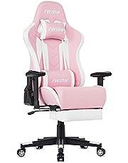 IntimaTe WM Heart Gamingstoel, gaming stoel, van kunstleer, gaming stoel met voetensteun, ergonomische computerstoel, draaistoel, bureaustoel
