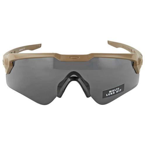 Oakley SI Ballistic M Frame Alpha Shooting Glasses (Color: Terrain Tan/Prizm Grey, Clear Lenses) (Oakley Si Ballistic M Frame 2-0 Vs 3-0)