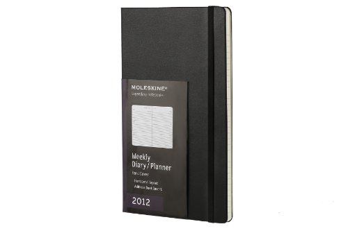 Moleskine 2012 12 Month Weekly Planner Horizontal Black Hard Cover Large ()