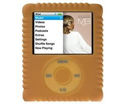 - Switcheasy Silicone Biscuit Case for iPod Nano 3G- Color Brown