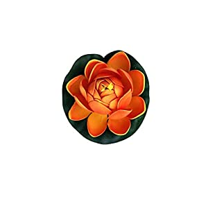 1 PCS 10cm Floating Lotus Artificial Flower Wedding Home Party Decorations DIY Water Lily Mariage Fake Plants,Orange 79