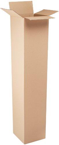 "Aviditi 121260 Tall Corrugated Box, 12"" Length x 12"" Width x 60"" Height, Kraft (Bundle of 10)"