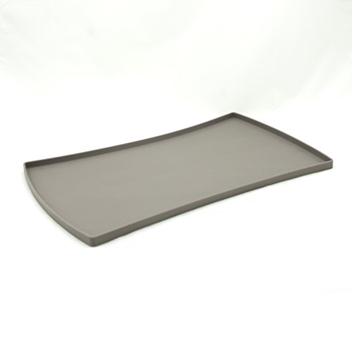 - Messy Mutts Silicone Pet Feeding Placemat, Grey