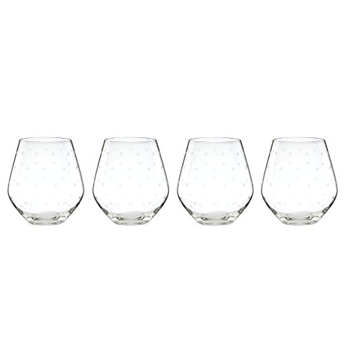 kate spade new york Larabee Dot Stemless Red Wine Glass, Set of - Kate Spade Glasses Dot Polka