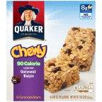 Quaker Oatmeal Raisin Chewy Granola Bars 90 Calories, 8 Bars per Pack (Low Fat Oatmeal Raisin)