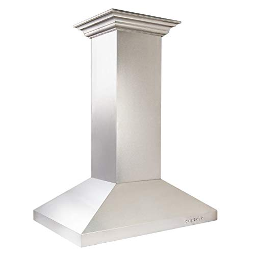 - ZLINE 36 in. 760 CFM Designer Series Snow Finished Stainless Steel Island Mount Range Hood (8KL3iS-36)