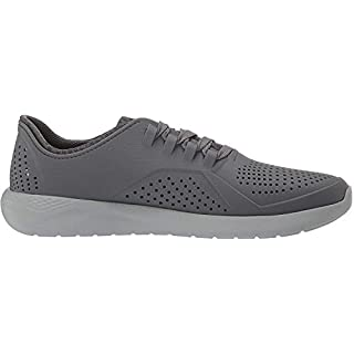 Crocs Men's LiteRide Pacer Sneaker, Charcoal/Light Grey, 4 M US