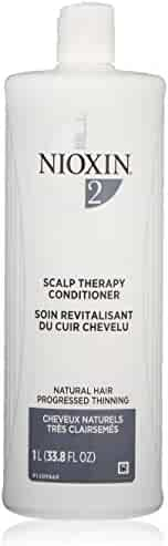 Nioxin Scalp Therapy Conditioner, Hair Care System 2 for Natural Hair with Progressed Thinning, 33.8 oz