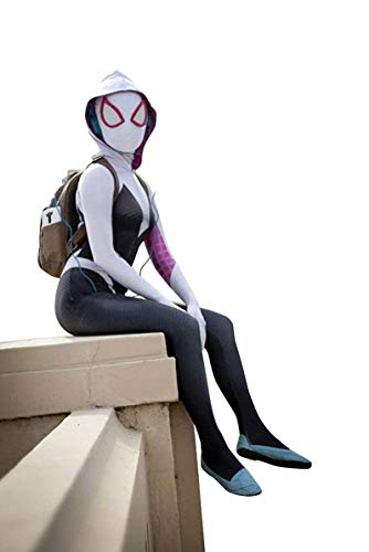 AestheticCosplay Gwen Stacy Suit, Mask & Lenses (Medium)