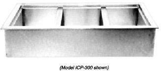 Drop In Iced Cold Pan - Wells ICP-600 Cold Food Unit drop-in iced cold pan 6-pan size with drain