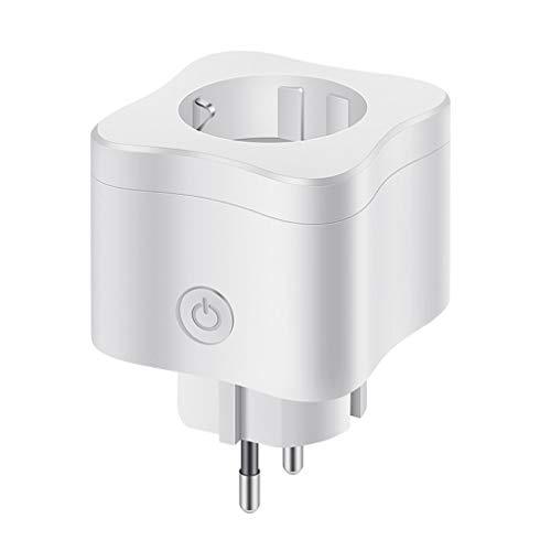 Alecony Smart Steckdose,WLAN Intelligente Drahtlose Fernbedienung Plug Stecker mit Mobiltelefonsteuerung,intelligente Timing, Überlastschutz funktioniert mit Android/iOS/Amazon Alexa/Google Assistant