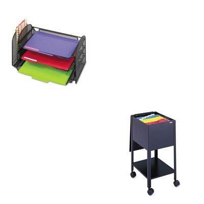 KITSAF3265BLSAF5360BL - Value Kit - Safco Economy Tub File (SAF5360BL) and Safco Mesh Desk Organizer (Economy Steel Tub File)