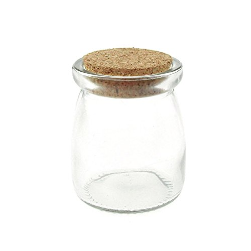 Homeford FCF00000PUD1_12X Glass Spice Jar Favors Corked Bottle (12 Pack), (Corked Glass Jars)