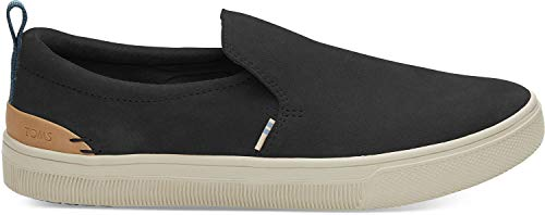 TOMS Women's TRVL LITE Slip-On Black Suede 8.5 B US (Toms Mesh Shoes)