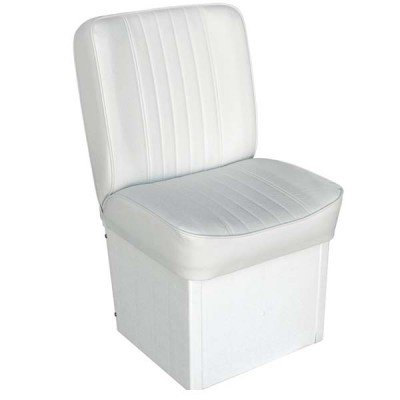 Deluxe Boat Seats Jump Seat (AMRW-WD1414P-710.1 * Wise Boat Seats Deluxe White Jump Seat)