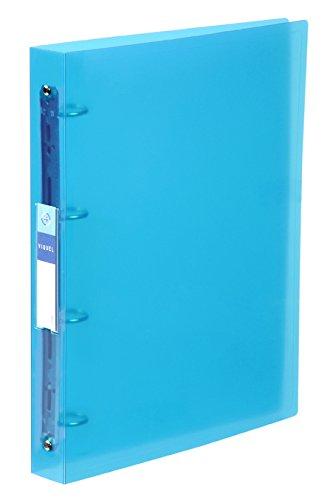 Viquel Maxi raccoglitore 4 anelli in Propyglass A4 10/10 blu 061346-05