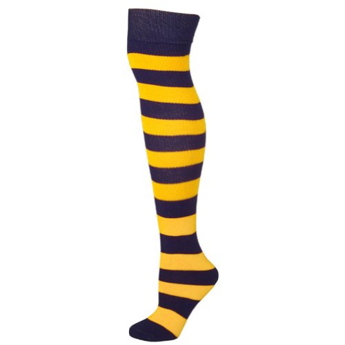 Striped Socks - Black/Gold (Black And Yellow Striped Nylon Stockings)