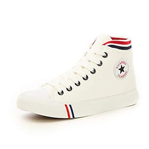 tela di donna comfort l' primavera colore e tacco White estate Nero da chiuse scarpe piatto sneakers TTSHOES Blu Rosso qxIwRtt