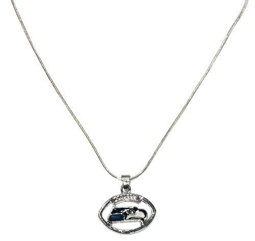 to Meet Your Pursuit of Beauty and Fashion Silver Accessories with NFL Team Logo Bracelets 3PCS Silver Jewelry Earrings Including Necklaces a Set of Silver Jewelry