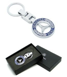 Brand new mercedes with gift box car keyring key chain for Mercedes benz key chain accessories