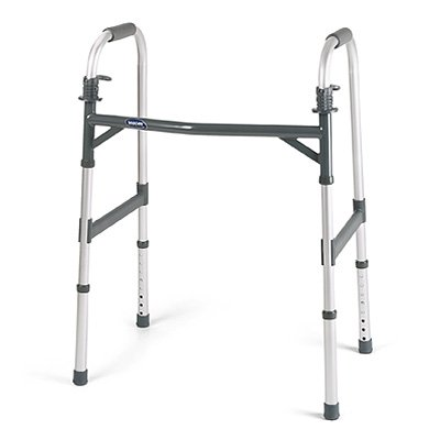 (Invacare Heavy-Duty Dual-Release Adult Paddle Walker, Case)