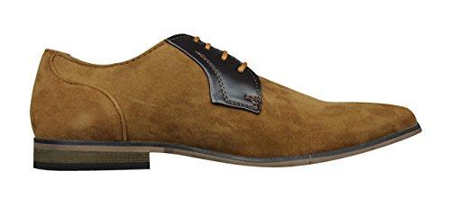 Lambretta Sol Mens Smart Casual Lace Up Shoes Tan sYpLw5Ihj