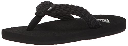 Roxy Girls' RG Porto Sandal Flip-Flop, Black, 11 M US Little Kid