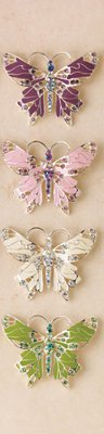 4 Crystal Fantasy Butterfly Pin Set